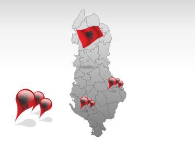 Albania PowerPoint Map Slide 4