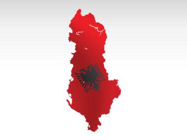 Albania PowerPoint Map Slide 7