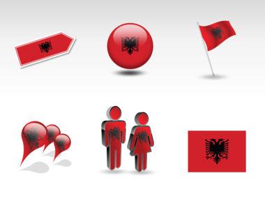 Albania PowerPoint Map Slide 9