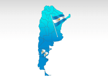 Argentina PowerPoint Map