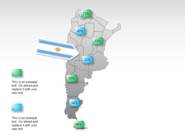 Argentina PowerPoint Map Slide 15