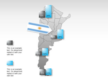 Argentina PowerPoint Map Slide 16