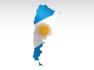Argentina PowerPoint Map Slide 7