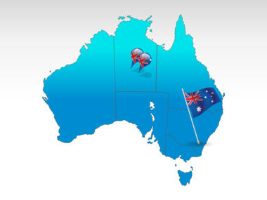 Australia PowerPoint Map, 00016, Australia — PoweredTemplate.com