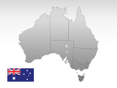 Australia PowerPoint Map Slide 10