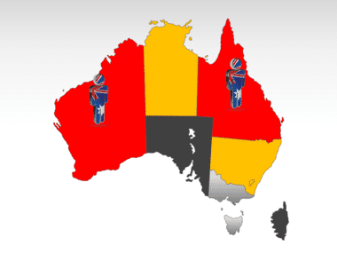 Australia PowerPoint Map Slide 11