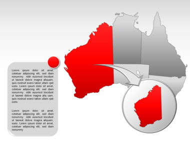 Australia PowerPoint Map Slide 13