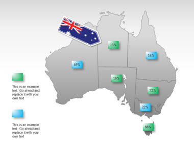 Australia PowerPoint Map Slide 15