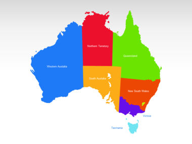Australia PowerPoint Map Slide 2