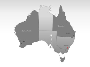 Australia PowerPoint Map, Slide 3, 00016, Australia — PoweredTemplate.com