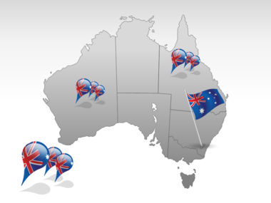 Australia PowerPoint Map, Slide 4, 00016, Australia — PoweredTemplate.com