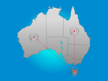 Australia PowerPoint Map Slide 6