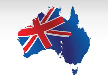 Australia PowerPoint Map Slide 9