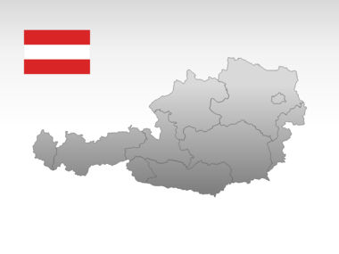 Austria PowerPoint Map, Slide 10, 00017, Presentation Templates — PoweredTemplate.com