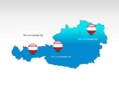 Austria PowerPoint Map, Slide 12, 00017, Presentation Templates — PoweredTemplate.com