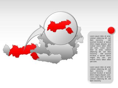 Austria PowerPoint Map, Slide 13, 00017, Presentation Templates — PoweredTemplate.com