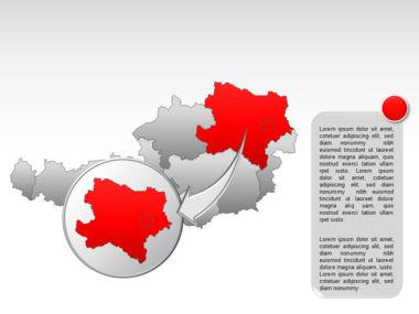 Austria PowerPoint Map, Slide 14, 00017, Presentation Templates — PoweredTemplate.com