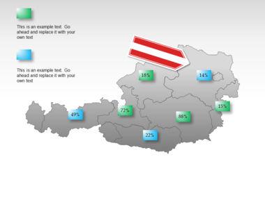 Austria PowerPoint Map, Slide 15, 00017, Presentation Templates — PoweredTemplate.com