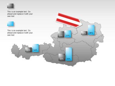 Austria PowerPoint Map, Slide 16, 00017, Presentation Templates — PoweredTemplate.com