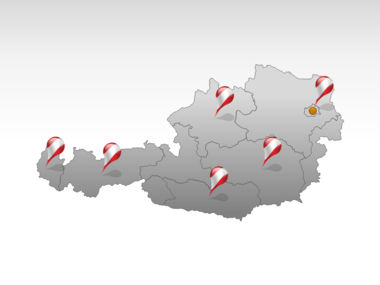Austria PowerPoint Map, Slide 5, 00017, Presentation Templates — PoweredTemplate.com