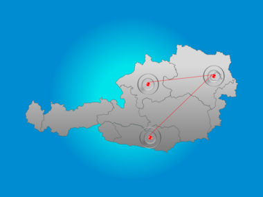 Austria PowerPoint Map, Slide 6, 00017, Presentation Templates — PoweredTemplate.com