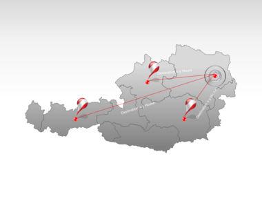 Austria PowerPoint Map, Slide 7, 00017, Presentation Templates — PoweredTemplate.com