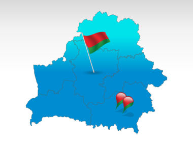 Belarus: Belarus PowerPoint Map #00018