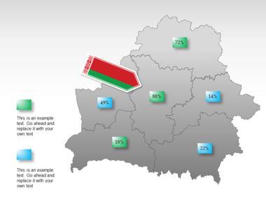 Belarus PowerPoint Map Slide 15