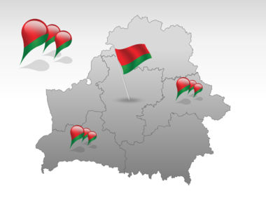 Belarus PowerPoint Map Slide 4
