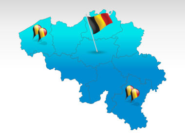 Belgium PowerPoint Map, 00019, Presentation Templates — PoweredTemplate.com