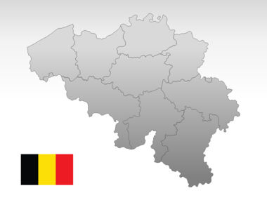 Belgium PowerPoint Map, Slide 10, 00019, Presentation Templates — PoweredTemplate.com
