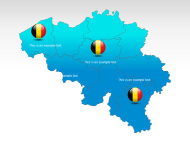Belgium PowerPoint Map Slide 12