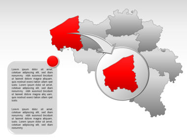 Belgium PowerPoint Map, Slide 13, 00019, Presentation Templates — PoweredTemplate.com
