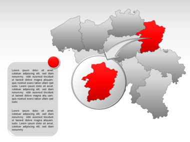Belgium PowerPoint Map Slide 14