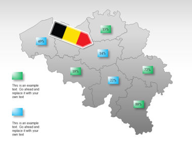 Belgium PowerPoint Map, Slide 15, 00019, Presentation Templates — PoweredTemplate.com