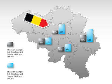 Belgium PowerPoint Map Slide 16