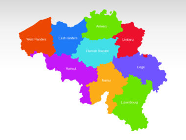 Belgium PowerPoint Map, Slide 2, 00019, Presentation Templates — PoweredTemplate.com
