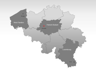 Belgium PowerPoint Map, Slide 3, 00019, Belgium — PoweredTemplate.com