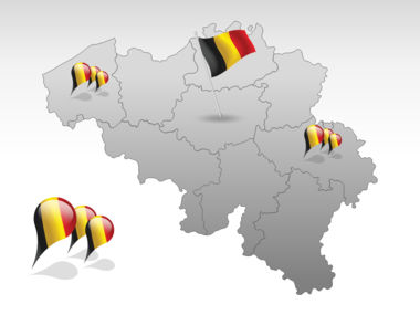Belgium PowerPoint Map, Slide 4, 00019, Belgium — PoweredTemplate.com