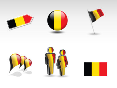 Belgium PowerPoint Map Slide 8