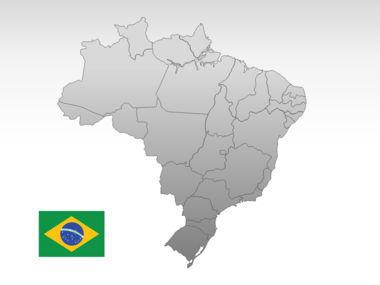 Brazil PowerPoint Map Slide 10