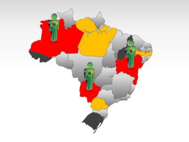 Brazil PowerPoint Map Slide 11