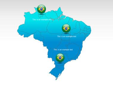 Brazil PowerPoint Map Slide 12