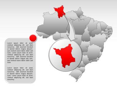 Brazil PowerPoint Map Slide 13