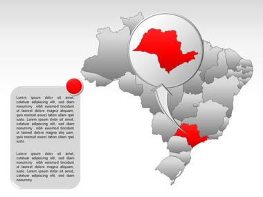 Brazil PowerPoint Map Slide 14