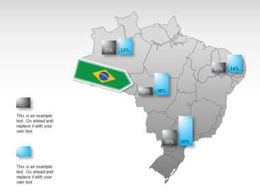 Brazil PowerPoint Map Slide 16