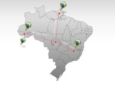 Brazil PowerPoint Map Slide 7