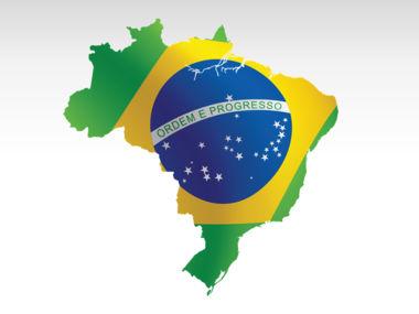 Brazil PowerPoint Map Slide 9