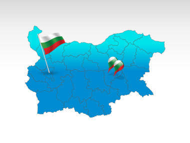 Bulgaria: Carte PowerPoint de Bulgarie #00022