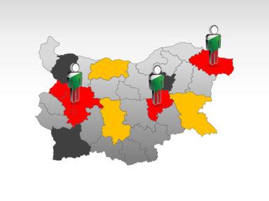 Bulgaria PowerPoint Map Slide 11
